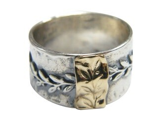Shablool rings, israel sterling silver ring, israel ring, 925 silver ring, hammered ring, handmade silver ring, Mixed Metal Ring, Worry Ring