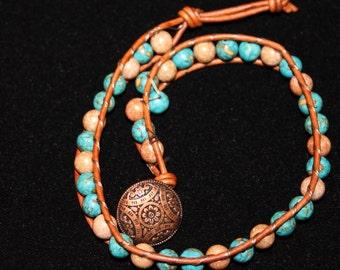 Chan Luu style double wrap bracelet