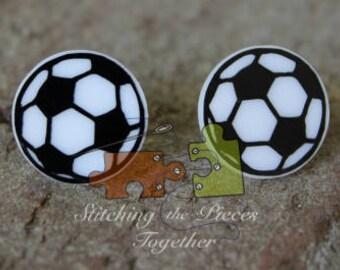 Soccer Earrings