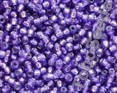 10g Toho Seeds Beads 11/0 Transparent Silver Line Purple TR-11-2224 Rocailles size 11 Toho Grape Violet