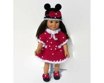 Doll Pattern, Crochet Doll Dress Pattern