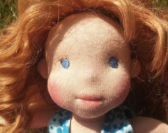 Elena, a 12.5 inches natural fiber doll