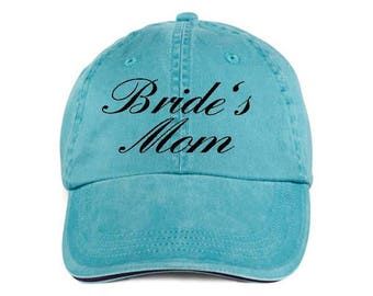 BRIDE'S MOM Baseball Style Hat/Cap/Bridal/Wedding/Special Activities/Parties/Showers