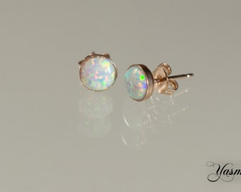 Opal in gold or rose gold plated