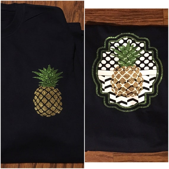 Long Sleeve W Pineapple Vinyl Monogram