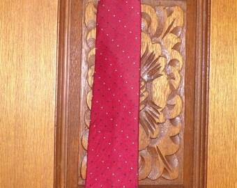 Men's Cavalier Clip on Tie, Vintage clip on tie, Red clip on tie, Clip on tie