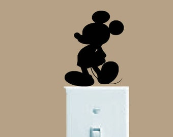 Mickey Mouse decal, FREE SHIPPING, black or white vinyl indoor decal, Mickey Mouse, #disney #mickeymouse wall decal, wall decor #185