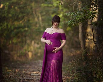 Maternity Baby Shower Dress With Lace Maternity Dress Maternity Wedding Dress Maternity Gowns Maternity Photo Shoot Dress Maxi Dress