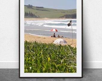 South Coast Beach, DIGITAL Download, Summer, Beach Photography, Nautical Print, NSW South Coast, Wall Art