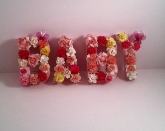 On Sale - Personalized name, Paper mache letters, Nursery, Photo prop, Gift, Baby shower, Preciousgiftsbydiane, Handmade gifts,