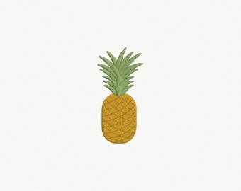 Pineapple Machine Embroidery Design - 3 Sizes