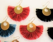 EARRINGS red /Bijoux moons of ST Valentine's day/gift of St. Valentine's day/earrings fringe/boho chic earrings