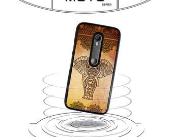 Pattern Elephant Floral for Moto x e g G2 G3 Moto X 2nd Gen Phone Case