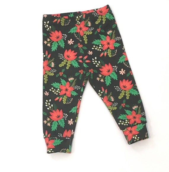 Baby Christmas Leggings Organic Toddler Holiday Leggings.