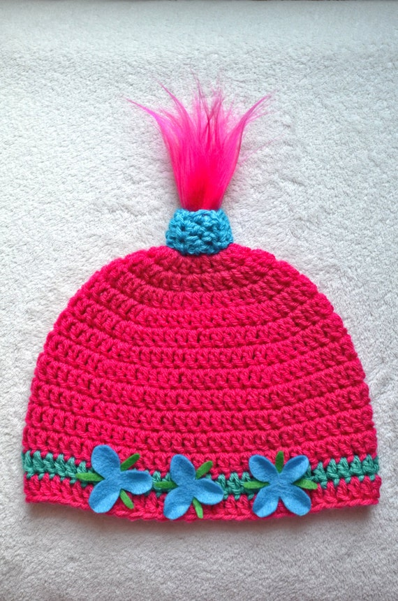 Trolls Knitting Or Crocheting Patterns : Reserved for claudia princess poppy inspired hat