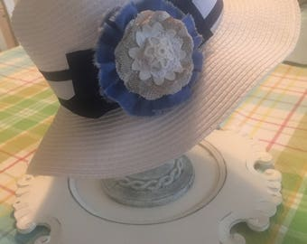 Shabby Chic Flower pins, clips and ponytail holders