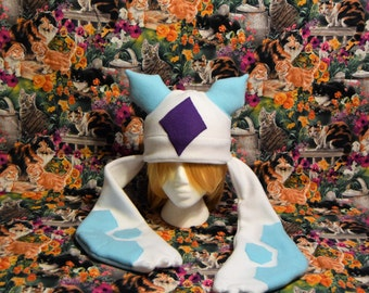 Froslass Pokemon Fleece Hat- Adult/teen size- Great Fadnom christmas gift