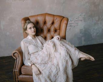 Luxury wedding dress, Custom wedding dress, Couture wedding dress, Silk wedding dress, Two 2 piece wedding dress, Vintage dress 2017 / 0139