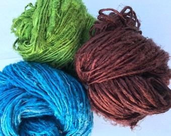 Mulberry Silk Yarns - 100gm x 3 = 300 gm