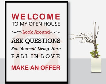 Real Estate Signs, Real estate open house, Realtor open house sign, Realtor sign, Real estate agent, Real estate, Realtor, open house sign