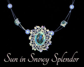 Sun in Snowy Splendor Necklace and Bracelet Set