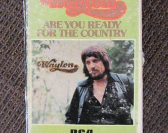 Waylon Jennings Are You Ready for the Country Cassette Tape 1976 Cardboard Case Free Shipping