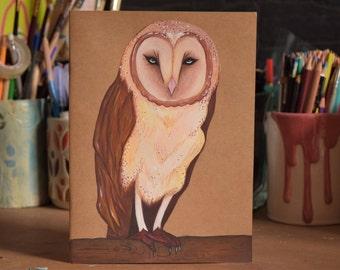 Owl notebook.