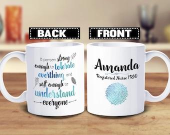 Personalized Nurses Mug, Nurses Week Gift, Student Nurse, Nurse Graduation Gift, Nurse Coffee Mug, Nurse Gift, RN, LPN, CNA, Cute Nurse Mug