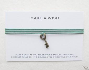 Wish bracelet, make a wish bracelet, key bracelet, W02