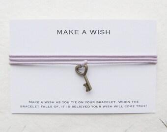 Wish bracelet, make a wish bracelet, key bracelet, W56