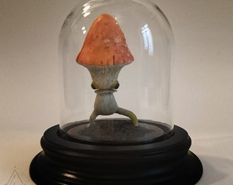 Mushroom - Daffodil amanita figurine-