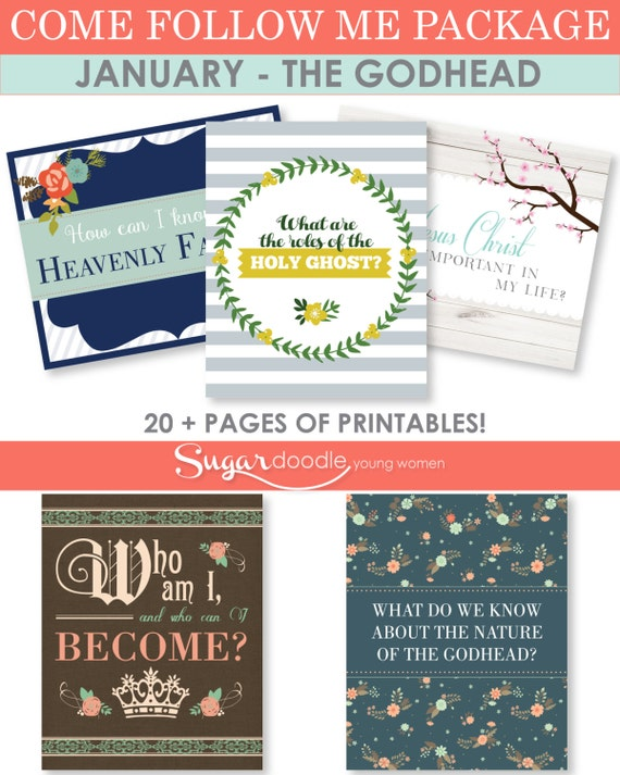 LDS YW Come Follow Me - January - Printable Lesson Helps -Bundled Package, all 5 lessons in one - MB