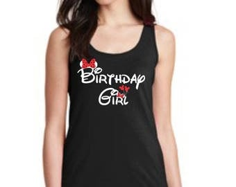 Birthday Girl Fitted Tank Top