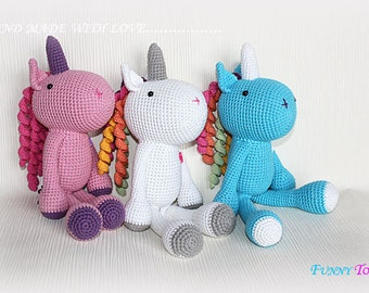 Rainbow the unicorn crochet Crochet toys Crochet Doll Amigurumi pattern