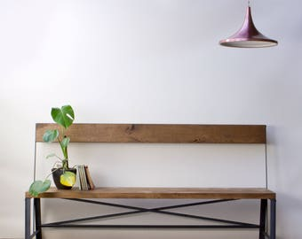 KONK! Industrial Bench - Seat, Chic, reclaimed, cafe, restaurant dining, table