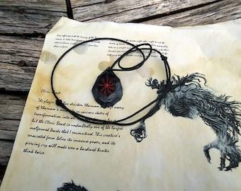 Blood gem/gemstone necklace, bloodborne inspired