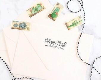 Custom Calligraphy Address Stamp // Return Address Stamp // Personalized Address Stamp