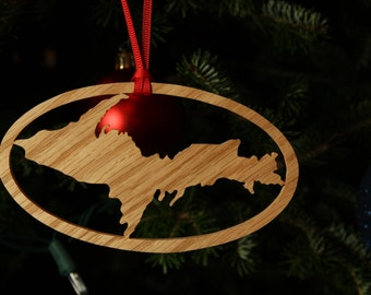 Large Upper Peninsula Ornament