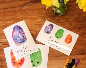 Photo card Happy Easter with naughty eggs-happy Easter-