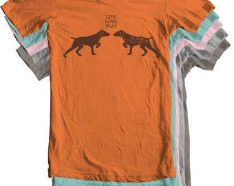 German Shorthaired Pointer Shirt GSP Shirt Hunting Dog I love pointers