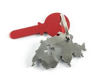 Switzerland keychain - Swiss gift - Switzerland souvenir