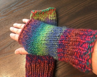 Clearance!!Women's hand knitted, fingerless gloves, arm warmers.