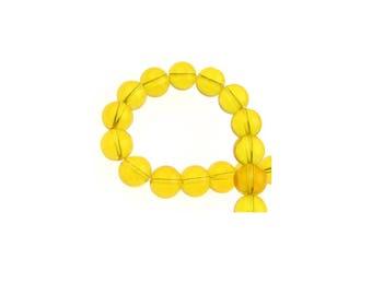 Citrine beads 10 mm, natural Citrine beads, genuine Citrine beads, gemstone beads, jewelry beads, tumble stones, 10 mm Round Beads, 1mm hole