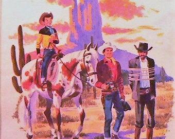 1955 Gene Autry Matted Vintage Print Western Cowboy