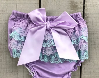 Bloomers, Ruffle Bloomers, Birthday Bloomers, Lace Bloomers, Bloomers with Bow, Diaper Cover, Baby Bloomers, Birthday Photo Bloomers