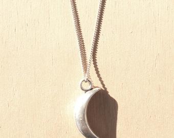 Moon 3D Charm Necklace