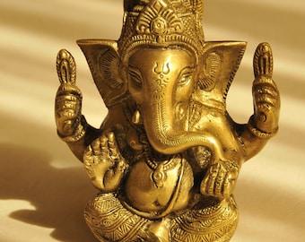 Brass Indian Ganesh Figurine