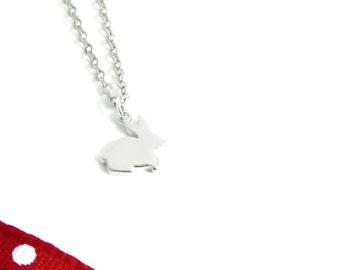 Rabbit necklace, rabbit pendant, rabbit, bunny, bunny necklace, bunny pendant, Easter Bunny, woodland jewellery, woodland jewelry