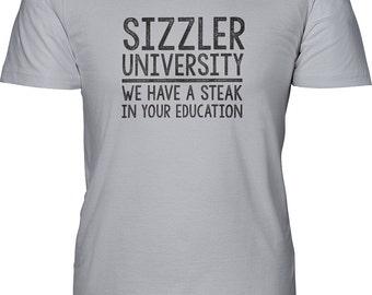 sizzler university, steak in education, iowa, iowa senator, senate education, political shirt, funny shirt, restaurant degree, statehouse