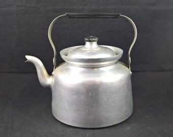 Vintage Tea Pot Tea Kettle Metal Kettle Swedish Kettle Boiling kettle Serving Tea Teapot wooden Handle Metal tea pot tea lover